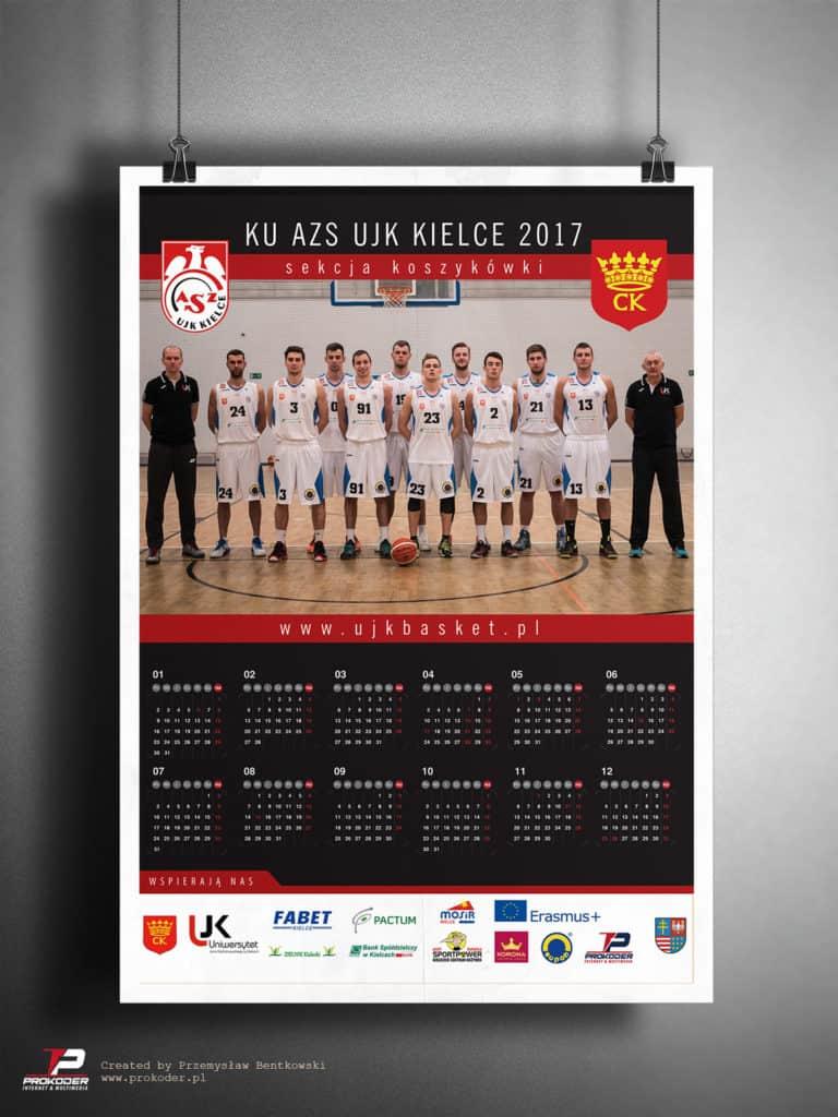 Plakat, kalendarz listwowany AZS UJK Kielce