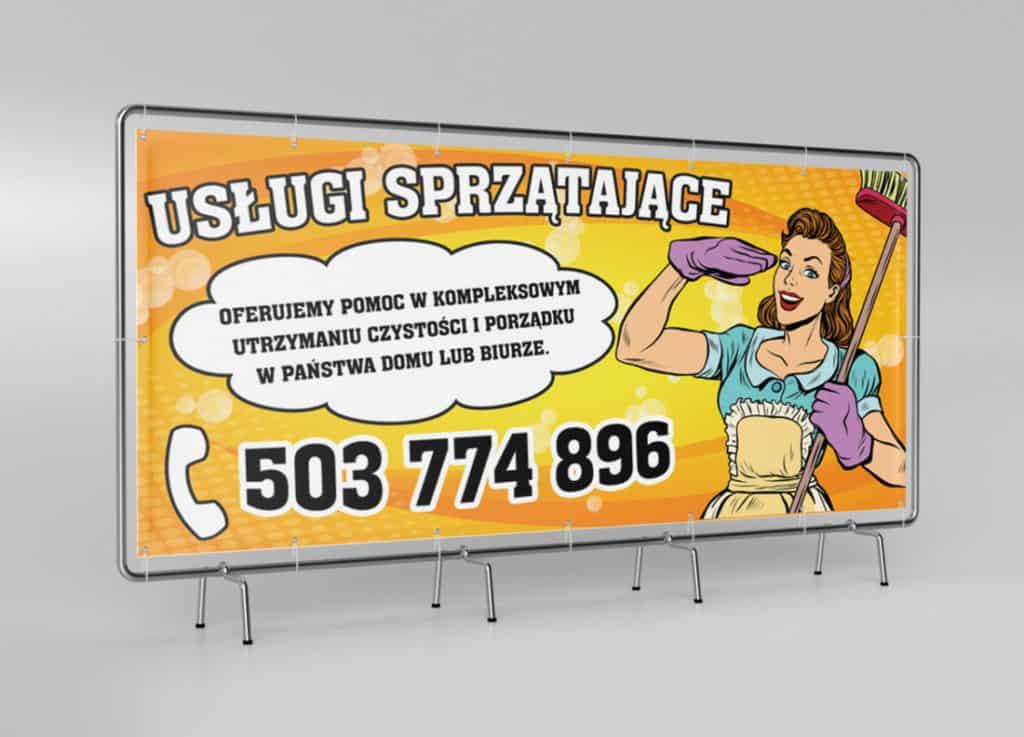 Baner reklamowy oczkowany Kielce