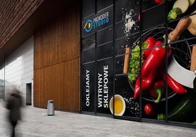 Oklejanie witryn sklepowych, szyb Kielce