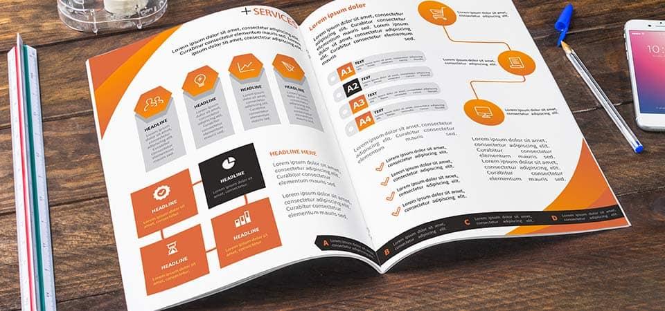Katalog szyty wydrukowany