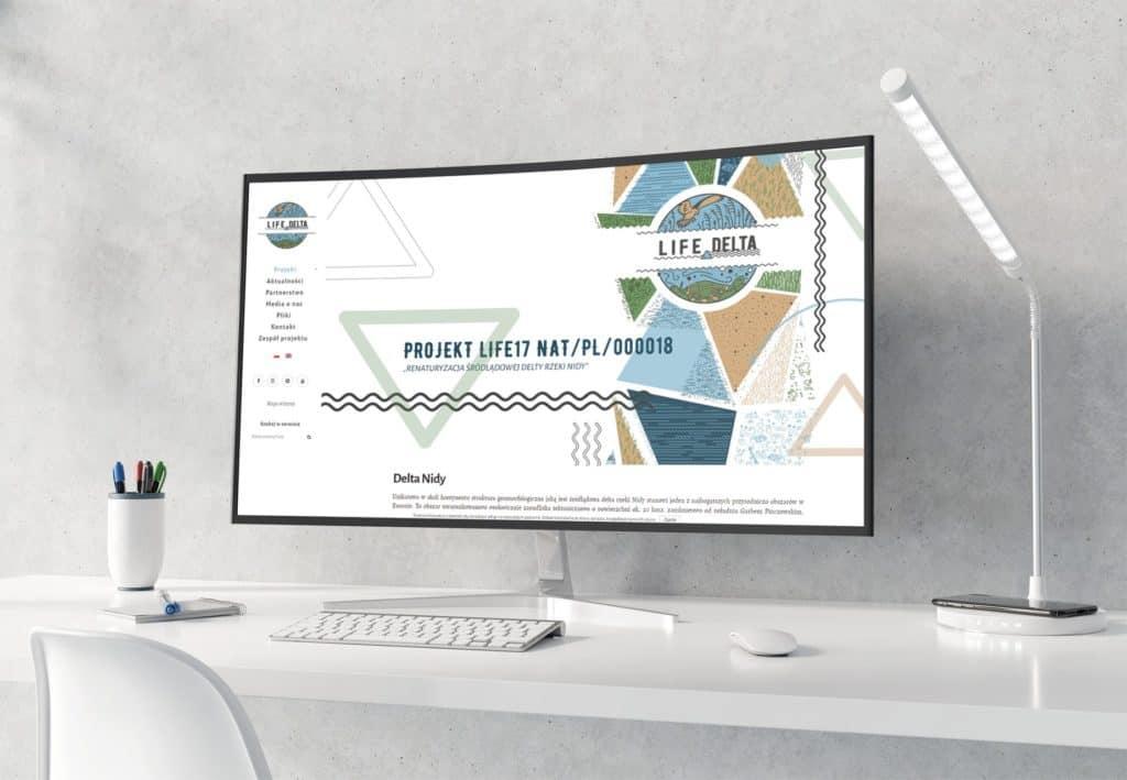 Projekt iwykonanie strony internetowej life4delta.pl