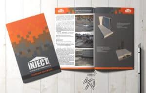 Skład iwydruk katalogu, broszury dla Inject Group