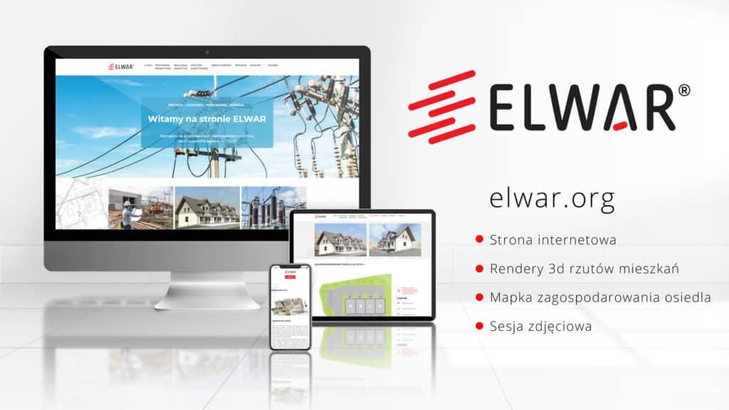 Wykonanie strony internetowe dla firmy Elwar