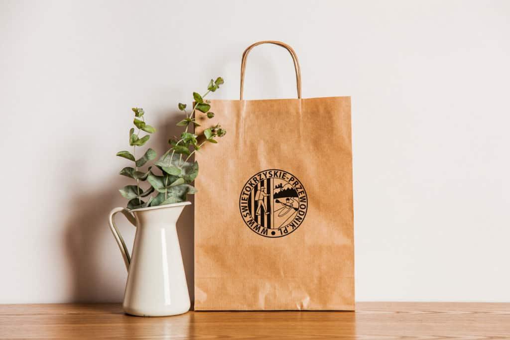 Ekologiczna torba papierowa znadrukiem Kielce