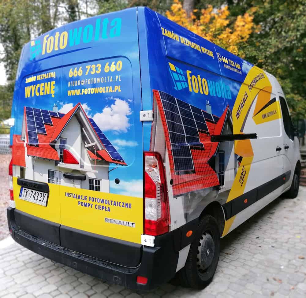 Oklejenie samochodu busa firmowego Kielce