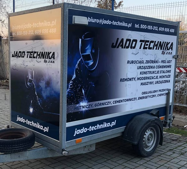Oklejenie przyczepy reklamą Kielce